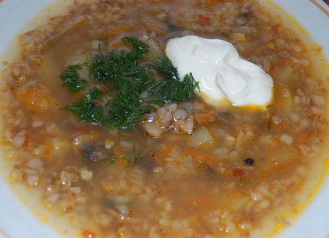 Суп из гречки с грибами рецепт с фото