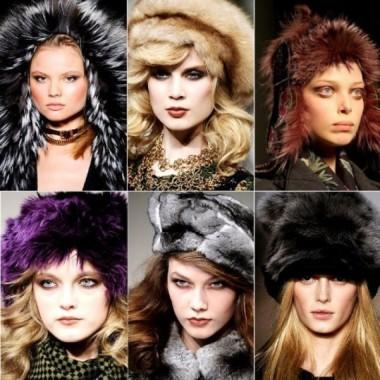вязанные детски шапки на зиму