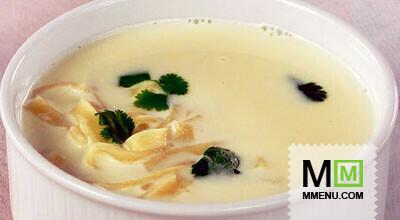 Молочный суп-лапша скартофелем илуком