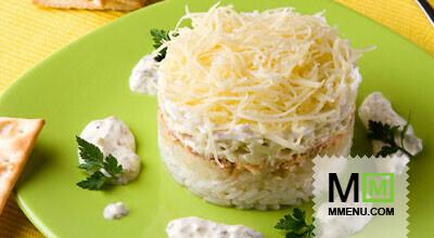 Салат «Невод» - кулинарный рецепт. Миллион Меню
