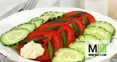 Сонник салат из огурцов и помидор на