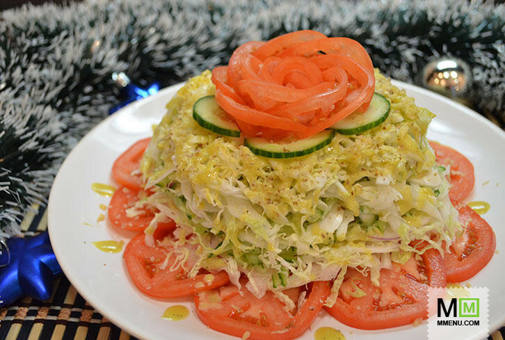 "Салат ""Капустные крабы"" – кулинарный рецепт"