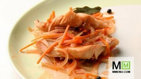 Филе с овощами в духовкеы