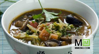 рецепт овощной суп с грибами рецепт