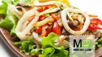 Салат из морского коктейля (готового) очень простой