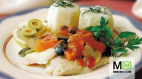 рецептура рыбы припущенной в соусе белое вино