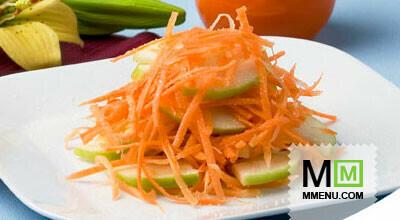 Салат из моркови яблока