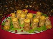 Приготовление блюда по рецепту - Праздничный салат фаршированный в фуршетные трубочки. Шаг 7