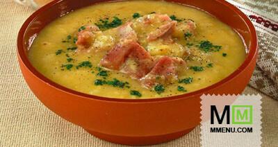 Суп из чечевицы с копчеными ребрышками рецепт