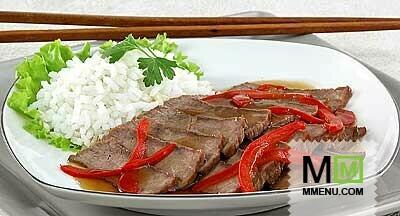 рецепт говядины в соевом соусе в фольге