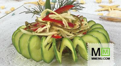 Морская капуста салат диетический рецепт