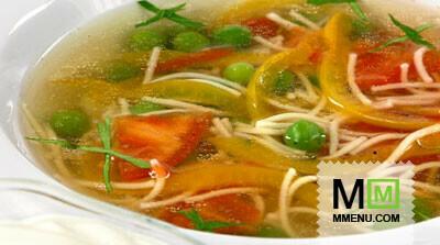 суп овощной рецепты с вермишелью