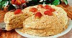 рецепт: Торт «Наполеон» склубникой