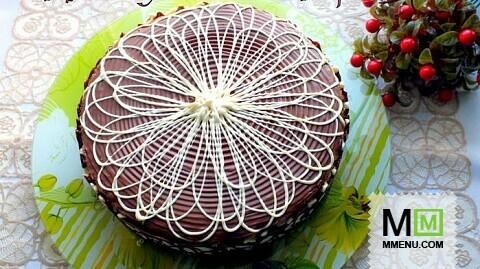 Торт с персиковым муссом