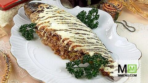 Фаршированный карп гречкой рецепт фото