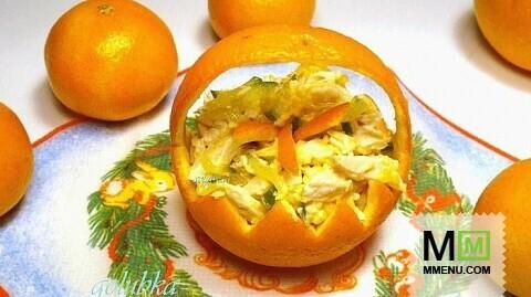 апельсине в Салат курица