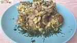 Рецепт: Картошка с грибами и чесноком в духовке (постный рецепт)