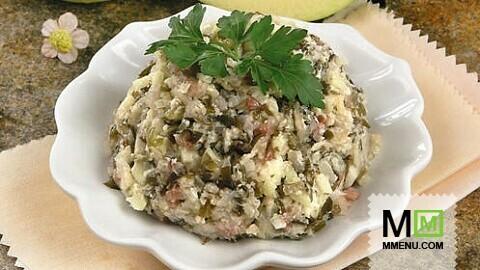 салат из свежемороженной морской капусты с фото