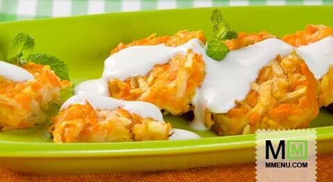 Морковные котлеты с яблоками рецепт