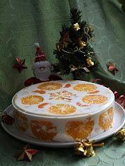 """Приготовление блюда по рецепту - Фруктово-желейный торт """"Мандарины, апельсины"""". Шаг 11"""